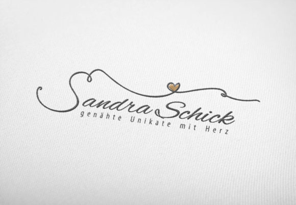 Logo Buchstabe S Herz Naehen Naehmaschine Naehnadel Nadel elegantes Logo-kaufen LogoShop LogoAtelier