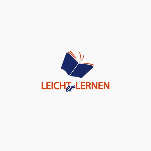 Logo Buch Schmetterling Leichter Lernen Fertiges Logo kaufen LogoShop LogoAtelier