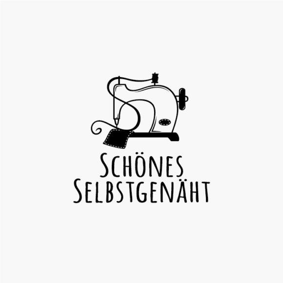 Logo Nähen Nähmaschine Handgemacht Selbstgemacht Handarbeit Fertiges Logo kaufen LogoShop LogoAtelier