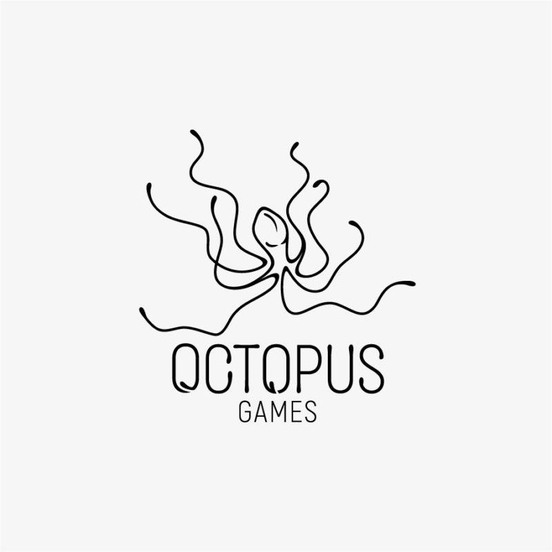 Logo Oktopus Games Vielseitig Krake Beine Computerspiel Meer Tier Fisch Spiele Bewegung Cooles Logo kaufen LogoShop LogoAtelier.eu