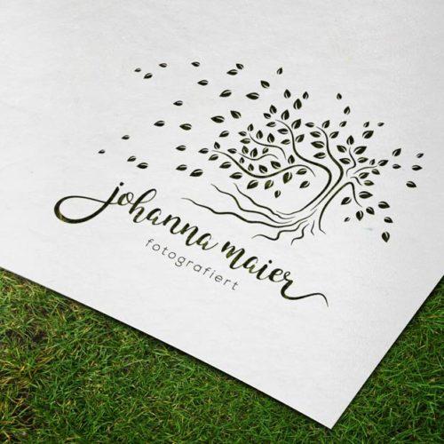 Natur Logo kaufen Baum Blatt Wurzel Wind Erholsam Beruhigend Wohltuend Psychologie Fotografie Ruhe Fertige Logos kaufen LogoShop LogoAtelier.eu