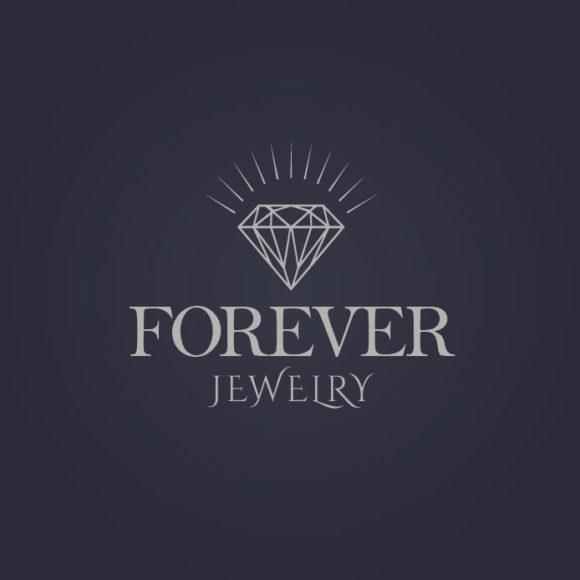 Diamant Logo Schmuck Juwelier Edel Perle Rein Reinigung Schatz Spiegelung Weiblich Glas Fertiges Logo kaufen LogoAtelier Edles Logo kaufen