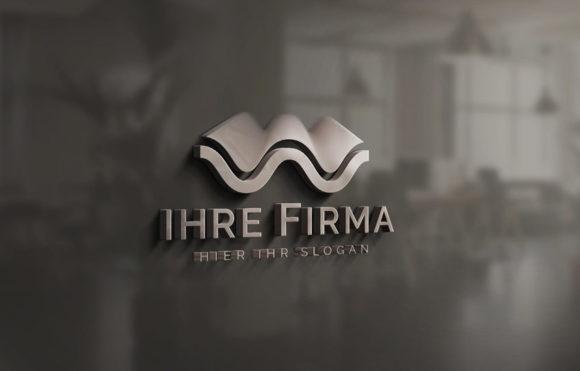 Exklusives Logo Wellen Schwingungen Kurven Bogen Schallwellen Wasserwelle Harmonie Logo kaufen Fertiges Logo kaufen LogoAtelier.eu