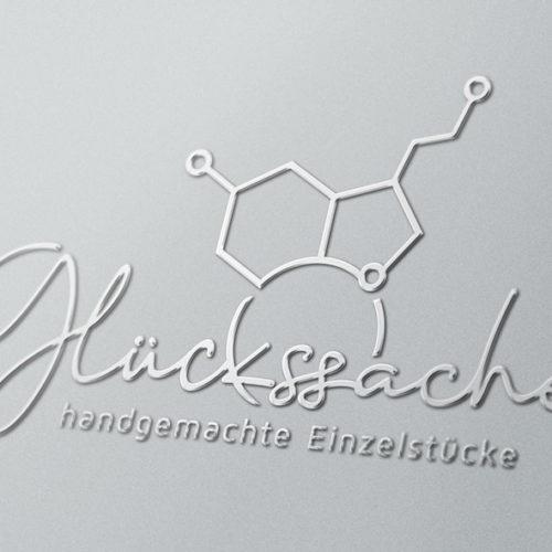 Logo Dopamin Serotonin Molekuel Glueckshormon Hormon Tatendrang Fantasie Schmuck Happyness Glueck Selbstgemacht Handgemachtes Einzelstueck Cooles Logo kaufen LogoAtelier.eu