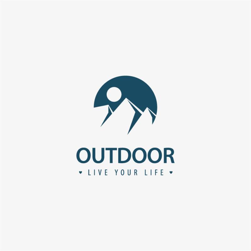 Logo Outdoor Sport Klettern Berge Alpen Sonne Cooles Logo kaufen Logoshop LogoAtelier.eu