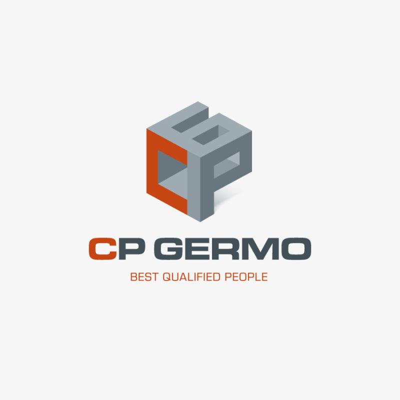 Logo 3D Buchstaben CBG Technik Baugewerbe Quadrat Fertiges Logo kaufen LogoShop LogoAtelier