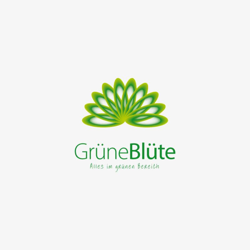 Logo Grüne Blüte Blume Wellness Esoterik Schönes Logo kaufen LogoShop LogoAtelier.eu